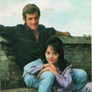 Jean-Paul Belmondo and Pascale Petit