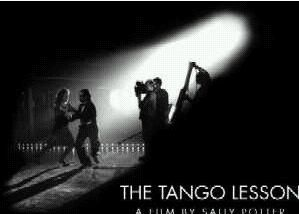 Sally and 3 men dancing in The Tango Lesson